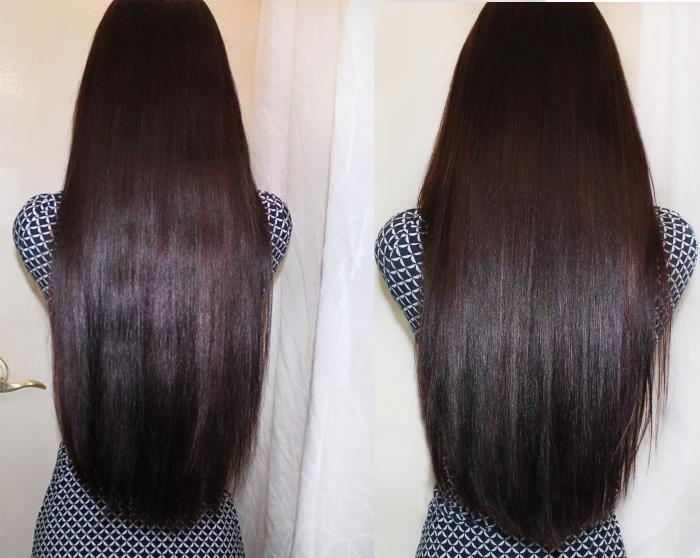 глазирование волос фото до и после