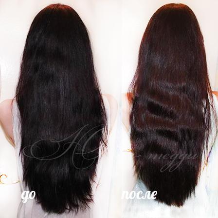 увлажнить волосы после смывки